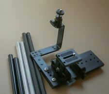 DSLR Base Plate, Tripod slide plate w/ Support rods.