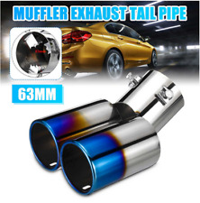 Car Accessorie Car Round Stainless Steel Exhaust Tail Muffler Tip Pipe 63mm