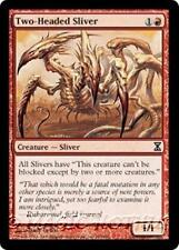 TWO-HEADED SLIVER Time Spiral MTG Red Creature — Sliver Com