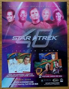 Star Trek 40 trading cards dealers promotional sell sheet 2006 SciFiHobby