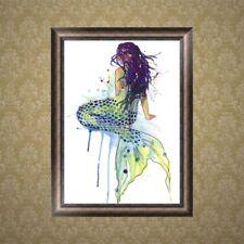 DIY 5D Mermaid Diamond Embroidery Painting Cross Stitch Craft Home Decoration