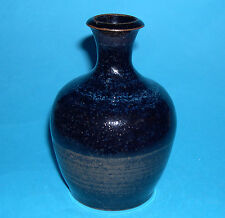 "Studio Pottery - Attractive ""Gloss Glaze with Hint Of Blue"" Bottleneck Vase."