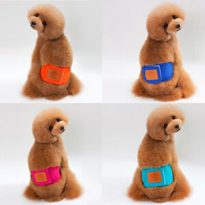 Pet Sanitary Panties Male Dog Diapers Nappy Belly Band Wrap Washable Underwear
