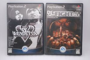 PS2 Def Jam VENDETTA & FIGHT FOR NY 2Games Japan import PlayStation2 New York EA