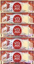 LOT Trinidad and Tobago, 5 x 1 dollar, 2006, P-46, UNC