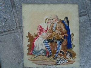 Antique Berlin Woolwork Tapestry Embroidery. John Anderson. Circa 19th.