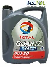SONDERPREIS TOTAL Quartz INEO ECS Fuel Economy 5W30 5 Liter Motoröl Peugeot