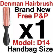 1 x Denman D14 Small Handbag Size Hair Styling Brush (5 ROWS) Brand New Free P&P