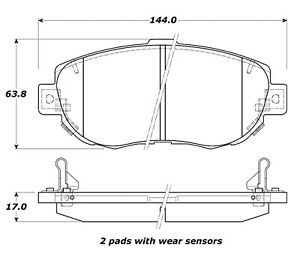 StopTech Street Touring for 00-05 Lexus IS 250/300/350 Front Brake Pads - st308.