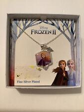NIB Disney Frozen ll Anna Necklace Silver Plated