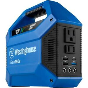 Westinghouse Portable Power Inverter Adapter Battery USB Port Electric Blue