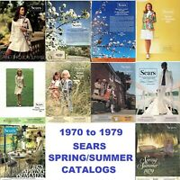 Sears Spring Summer Catalogs on Disc (Ten Years: 1970 to 1979)
