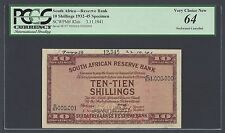 South Africa 10 Shillings 3-11-1941 P82ds Specimen Uncirculated