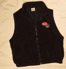 Iron City Ic Light Mens Vest Black Large L Plush Fleece Full Zip Front Beer Warm