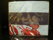 Brooks Brothers Pillow Sham Lobster Print Unused Mib Nr