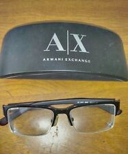 Authentic Armani Exchange A/X Eyeglasses and Case AX1014 6063 53/17-145