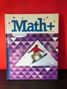 Math Plus 2nd Edition Lesson Guide Hardcover Textbook, 2019, Good Condition 🍎