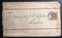 1891 Frankfurt Germany Postal Stationary Cover To Mannheim