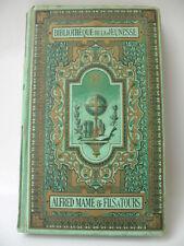 LIVRE ANCIEN RELIURE ROMANTIQUE EDITION MAME TOURS GERTRUDE 1883 ANTIQUE FRENCH