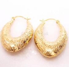 18K Yellow Gold Plated Design Xmas Mothersday Big Loud Women Hoop Earrings