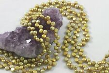 """15.5"""" Cultured Fresh Water Pearl Beads Coin 5-6mm BRONZE YELLOW *FREE SHIPPING"""