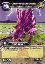 Carte DINOSAUR KING Attaque Alpha CHASMOSAURE ALPHA DKAA 016/100