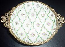 antike Jugendstil Porzellanschale mit Handmalerei