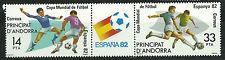 ANDORRA Edifil # 159/160 MNH Set. World Cup SPAIN 82 / football / fussball