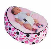 Light Pink Circle Baby Bean Bag with Filling-UK Seller