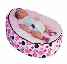 Light Pink Circle Baby Bean Bag with Filling-UK Seller