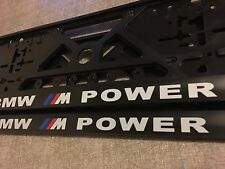 2x BMW number plate holders 320D 520D 530D XD 420D X3 05 TOURING ALPINA M-POWER