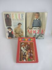 Vintage Knitting Books 1980 S vogue elle superknits
