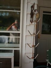 8 On 1 Hanging Meat Hooks Livestock Butcher Industrial*Factory*Steamp unk Vintage