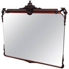 Solid Mahogany Pagoda Top Mantle Mantel Buffet Mirror 1 of 2 Available Rare