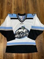 Alaska Aces Authentic Embroidered ECHL Reebok Hockey Jersey Size Small RARE