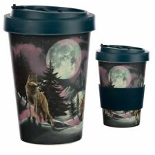 Wolf - Reusable Screw Top Bamboo Composite - Travel Mug - Brand New