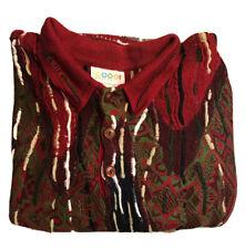 AUTHENTIC COOGI Australia Vintage L/S Polo Shirt vaporwave Knit Sweater Large