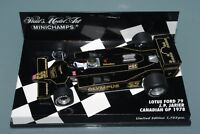 Minichamps 1/43 F1 LOTUS FORD 79 OLYMPUS - J.P. JARIER CANADIAN GP 1978