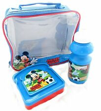 NEW CHILDREN DISNEY MICKY MOUSE 3 PIECE SET LUNCH BAG