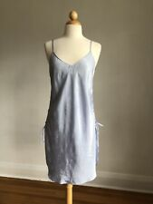 GORGEOUS VTG INNER MOST Blue Silky Satin Ties Up Sides Nighty Lingerie SZ M Mint