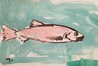 "JOSE TRUJILLO - Acrylic Painting Primitive ART Expressionism MODERN FINE ART 19"""