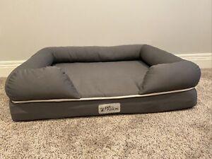 PetFusion 36in x 28in Orthopedic Memory Foam Large Ultimate Dog Bed Slate Grey