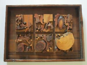 DAVID DIZINNO 1970'S WOOD CARVING ORGANIC ASSEMBLAGE ABSTRACT POP NEVELSON STYLE