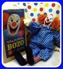 NMIB BOZO Mattel 1964 Orig Box Talks Pull String Doll Clown WOW! Super Vtg Gift