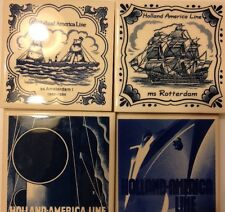 1 Of 4 Holland AMERICA LINE SS AMSTERDAM 1 TILE COASTER Ms Rotterdom