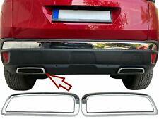 Molduras de Escape Embellecedor cromado para Peugeot 3008 SUV