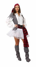 ADULT LADIES PIRATE COSTUME WITH WHITE TUTU SKIRT FANCY DRESS