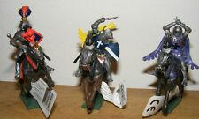 3 Britains Deetail Ritter zu Pferd, Knights Mounted, 17851