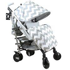 My Babiie MB51 From Birth Baby Stroller / Pram - Billie Faiers Grey Chevron