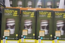 K-LITE ENERGY SAVING 3 WAY LIGHT BULB 50-100-150 ~ 32.5 WATTS CFL LIGHT Bulbs